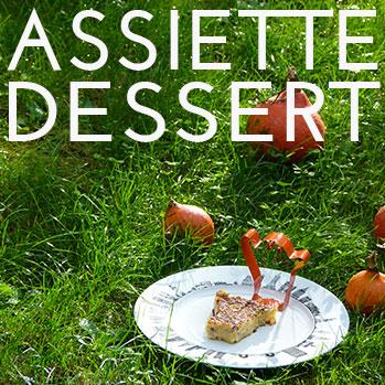 assiette dessert, une sélection d'assiettes à dessert et petits formats en couleur, en noir et blanc et unies par assiettes et compagnie
