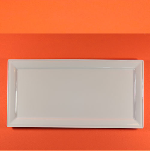 plat rectangle REVOL en porcelaine professionnelle sur assiettes et compagnie