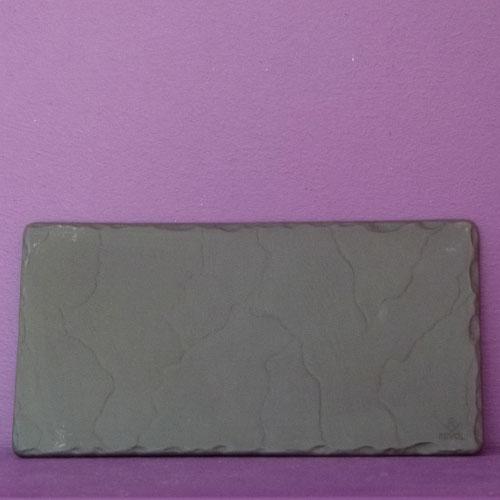 assiette en porcelaine basalt façon basalt de revol made in france