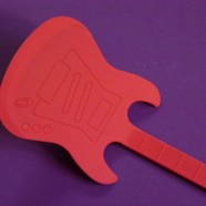 Spatule Guitare rouge