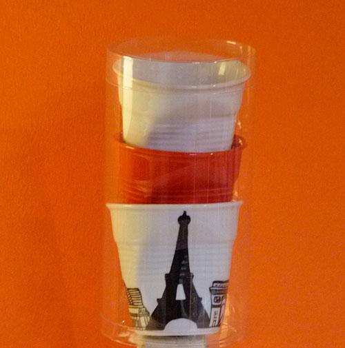 trio tasses paris blanc et rouge par revol porcelaine