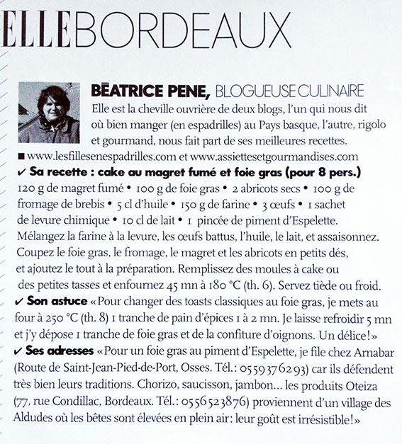 article beatrice pene ELLE decembre 2013