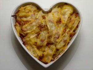 recette tartiflette plat coeur pour la saint valentin