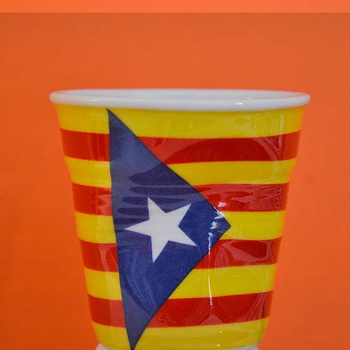 tasse drapeau catalogne en porcelaine REVOL made in france
