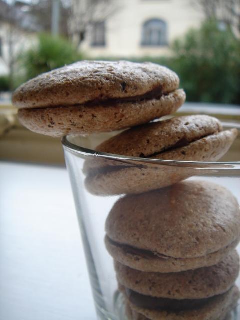 recette de macarons salés avec des macarons au foie gras et figues