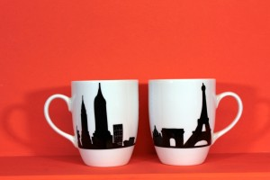 Mug Paris New York de la collection Carnet de Voyage par Assiettes et Cie