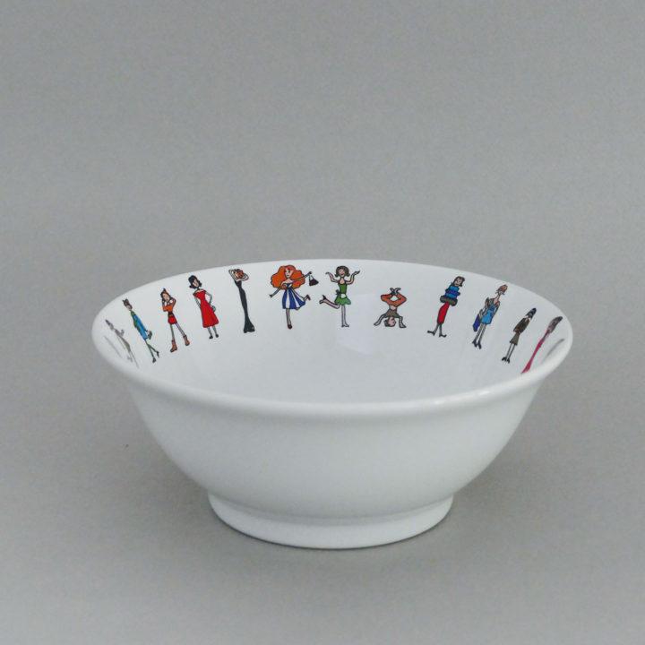 saladier i love shopping par assiettes et compagnie, éditée par la maison revol, porcelaine made in france; création originale d'assiettes et compagnie