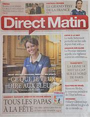 sur direct matin le 11 juin 2014revue de presse pour assiettes et compagnie, voir les articles qui parlent des créations de béatrice pene
