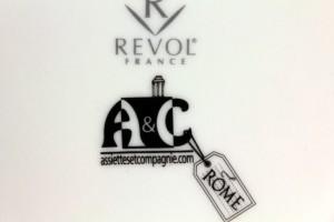 """dessous de l'assiette """"carnet de voyage à Rome"""" par Assiettes & Compagnie"""