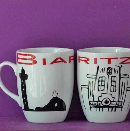 mug Biarritz par Assiettes et compagnie fabrication française par Revol