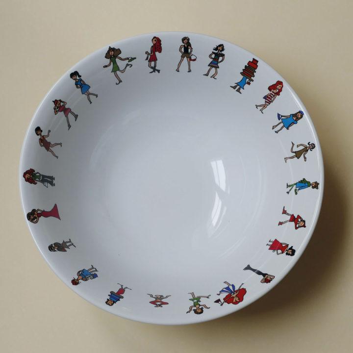 coupelle i love shopping par assiettes et compagnie, éditée par la maison revol, porcelaine made in france; création originale d'assiettes et compagnie
