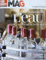 article sur assiettes et compagnie dans le sud ouest magazine de novembre 2014 - 2 pages de reportage sur Béatrice Pene
