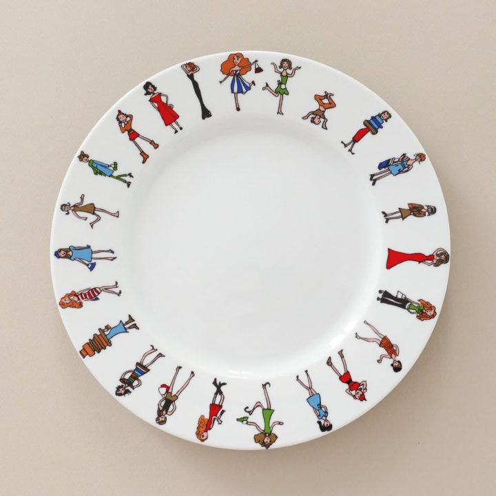 assiette I love shopping pour donner des air de fête de filles à votre table - création assiettes et compagnie - adaptée pour tous les fours et le lave vaisselle - made in france