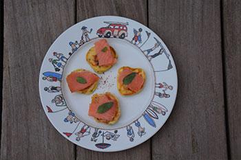 assiette family surf avec blinis saumon fumé
