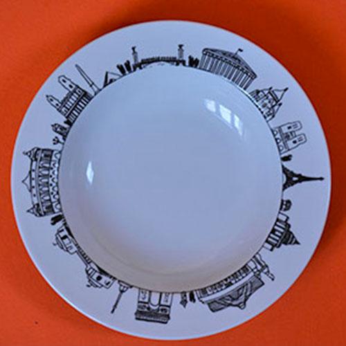 assiette à soupe Paris par assiettes et compagnie