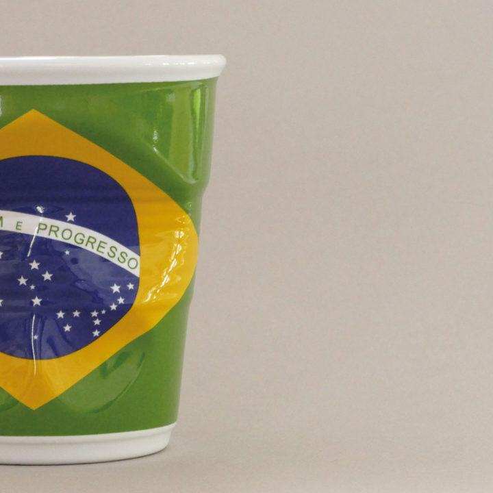 pot à unstensiles Brésil par Revol porcelaine sur une idée originale de béatrice pene et assiettes et compagnie