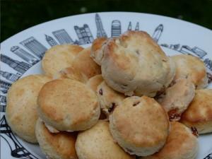 assiette new york avec la recette de scones