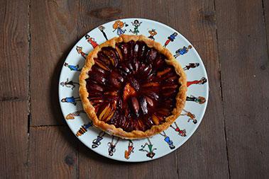 plat shopping pour une belle tarte aux prunes