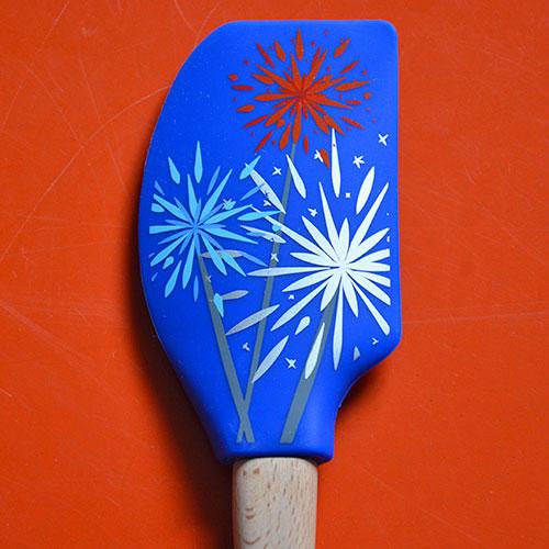 spatule tovolo sur le thème du feu d'artifice pour mettre de la couleur et de la gaité dans votre cuisine, ultra pratique en silicone alimentaire, la collection spatules spatulart