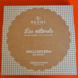 moule à tarte Revol Made in France pour un vrai moule à l'ancienne en porcelaine pour les tartes, les quiches et les tourtes