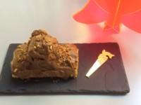 la buche au nutella d'assiettes et gourmandises est rustique mais délicieuse
