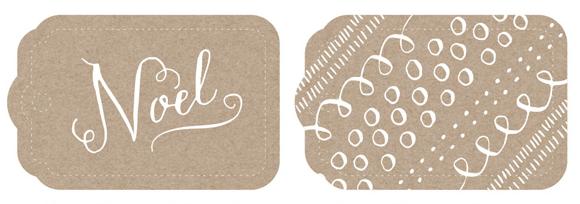 étiquettes de noel , des idées que le blog assiettes et gourmandises pour décorer vos tables de noel