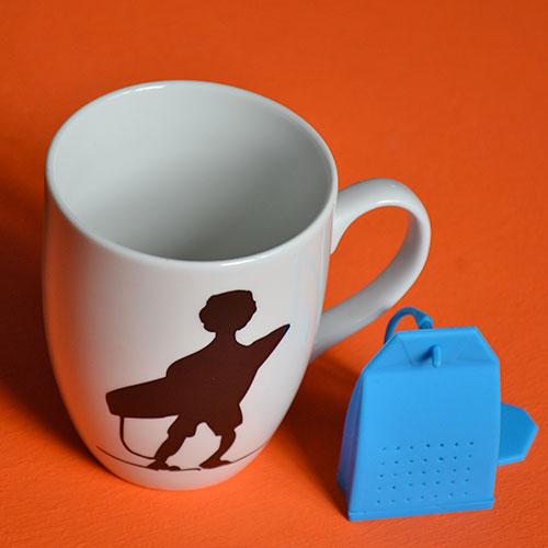 infuseur à thé en forme de sachet de thé, en silicone