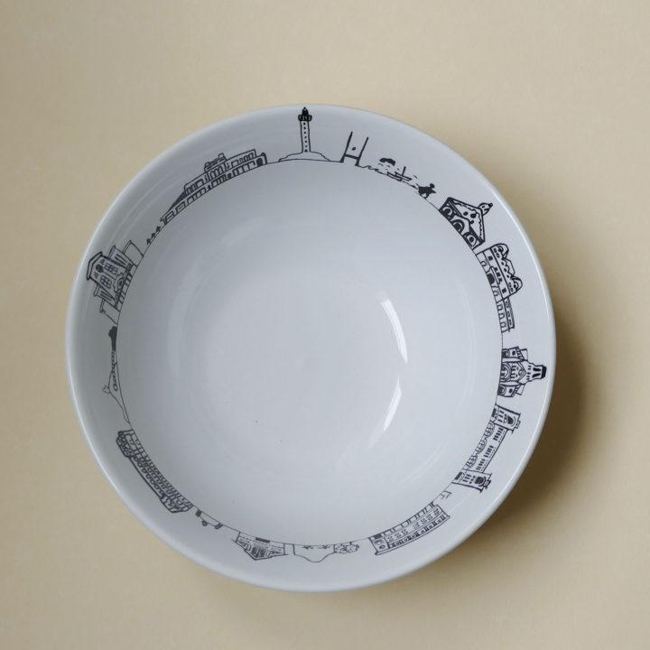 coupelle biarritz par assiettes et compagnie, éditée par la maison revol, porcelaine made in france; création originale d'assiettes et compagnie
