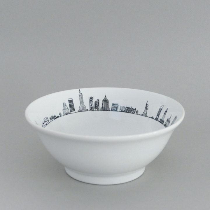 coupelle nyc par assiettes et compagnie, éditée par la maison revol, porcelaine made in france; création originale d'assiettes et compagnie