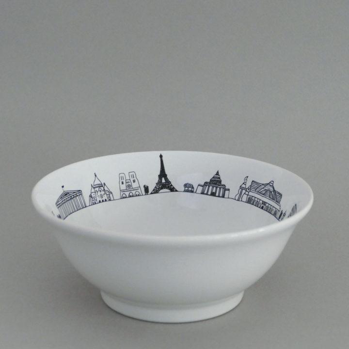 coupelle paris par assiettes et compagnie, éditée par la maison revol, porcelaine made in france; création originale d'assiettes et compagnie