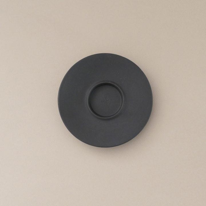 sous tasse basalt de forme ronde, par porcelaine Revol