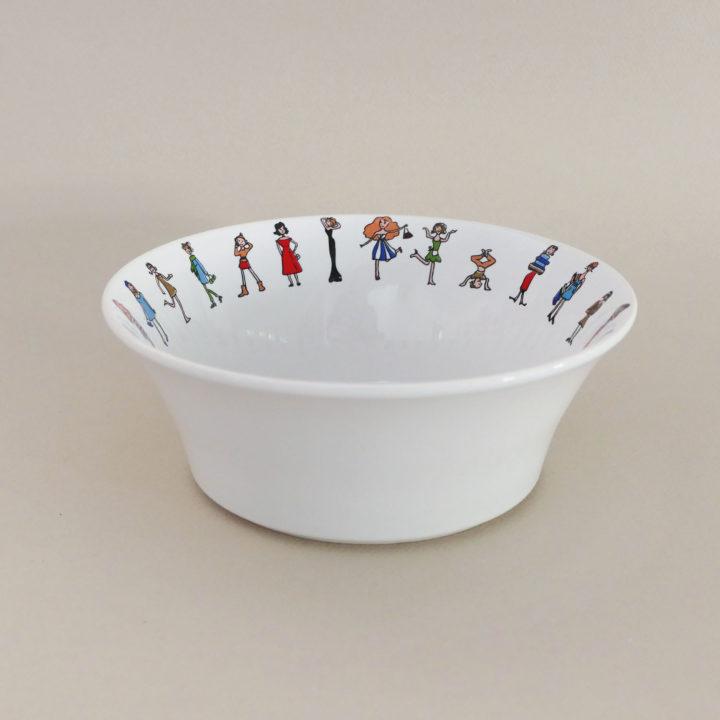 coupelle I love shopping pour donner des air de fête de filles à votre table - création assiettes et compagnie - adaptée pour tous les fours et le lave vaisselle - made in france