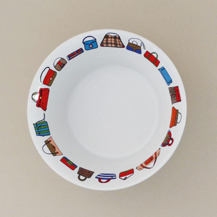 coupelle les sacs à main pour donner des air de fête de filles à votre table - création assiettes et compagnie - adaptée pour tous les fours et le lave vaisselle - made in france