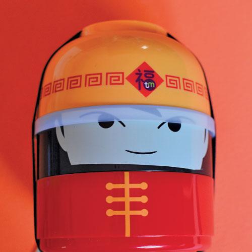 boite à bento pour les pique nique design des enfants et notamment des filles avec cette version samouraï japonais