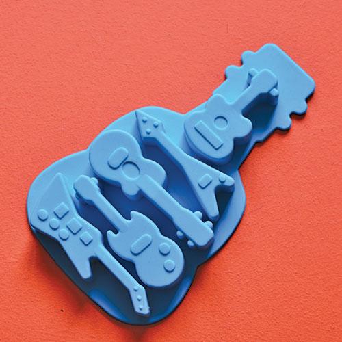 moule guitare électrique pour faire des glaçons ou des petits gâteaux en formes de guitares électriques, moule en silicone alimentaire