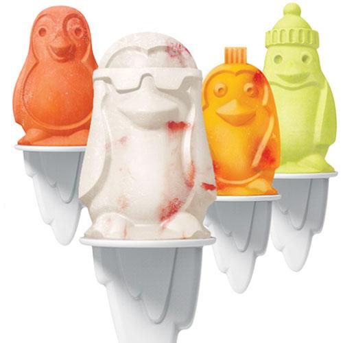 moules à glaces en forme de pingouins affinée préparer soit même des glaces que vos enfants vont adorer... quelle joie de dévorer ces pingouins la - moules en silicone avec bâtons réutilisables pour essayer 1001 parfums maison ou pas