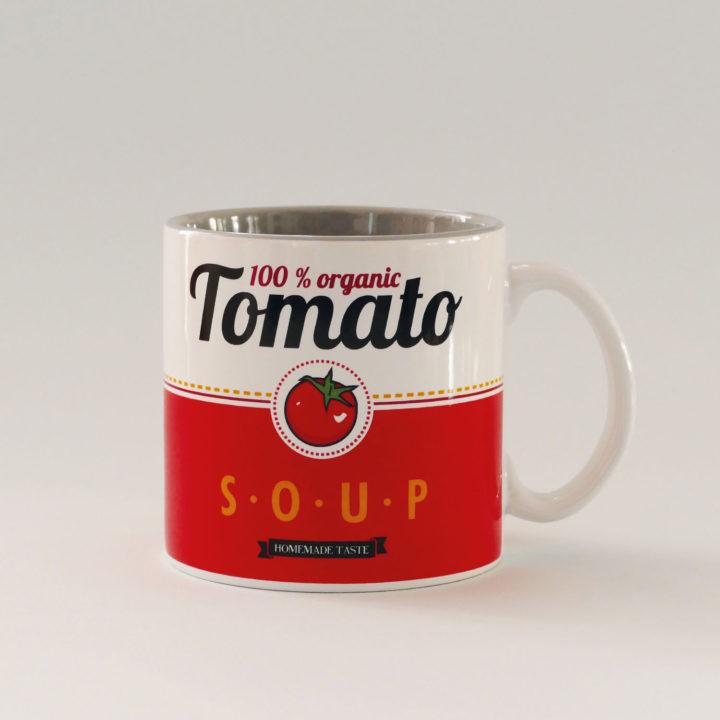 mug tomato un énorme mug pour vos soupes ou vos thés en porcelaine