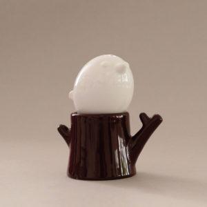 salière arbre et oiseau en porcelaine, idéal pour mettre sur la table pour avoir du sel et du poivre moulu en appoint de vos plats