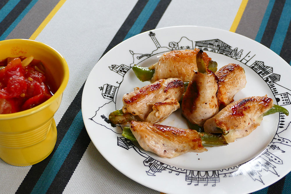 le poulet basquaise on peut aussi le manger avec les doigts !