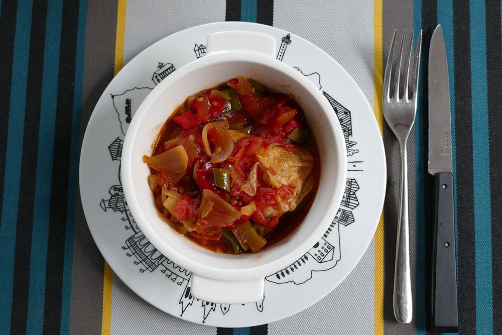 poulet basquaise assiette basque