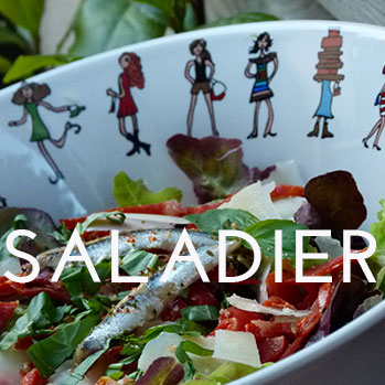 tous nos modèles de saladiers en porcelaine sont fabriqués par la maison Revol - design par béatrice Lassus Pene pour Assiettes et compagnie