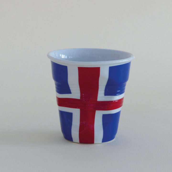 tasse cappuccino Islande de la collection flags par Revol et Assiettes et compagnie