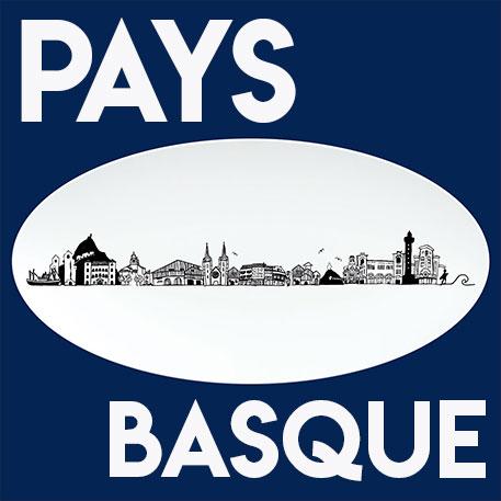 la collection pays basque d'assiettes et compagnie vous présente toute une série de plats, d'assiettes, de mugs et de tasses à café sur le thème du pays basque et des villes comme biarritz, saint jean de luz, bayonne, ascain, cambo, saint jean pied de port...
