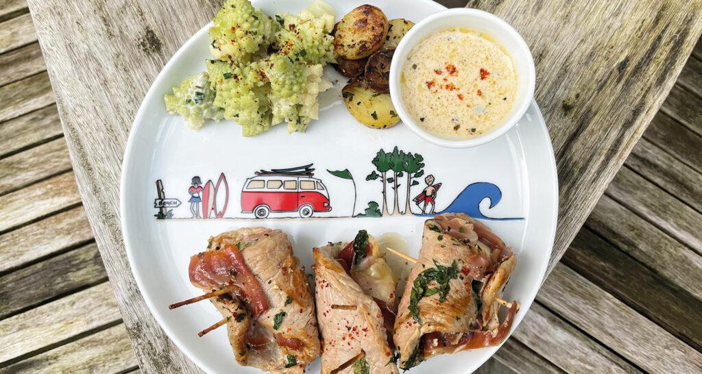 assiette la plage et recette des saltimboccas alla romana - recette d'assiettes et compagnie