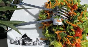salade ail des ours sur saladier basque par assiettes et compagnie