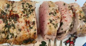 filet mignon de veau avec épices ximitxurri et présentation sur plat la plage par assiettes et compagnie